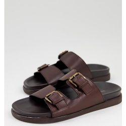 Sandales larges en cuir avec deux boucles et semelle - Silver Street - Modalova