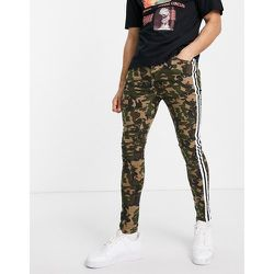 Jean skinny à rayures contrastantes - Camouflage - Sixth June - Modalova