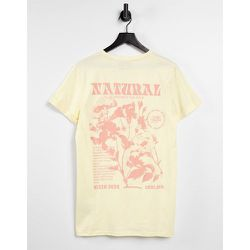 T-shirt à imprimé Natural au dos - Beige - Sixth June - Modalova