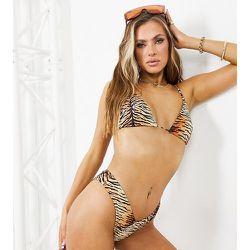 Mix and Match - Haut de bikini triangle à imprimé tigré - South Beach - Modalova