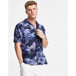 Chemise manches courtes avec col à revers et imprimé hawaïen - ton sur ton - Tommy Hilfiger - Modalova