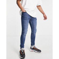 Big & Tall - Jean skinny stretch en coton biologique mélangé - Délavage moyen - Topman - Modalova