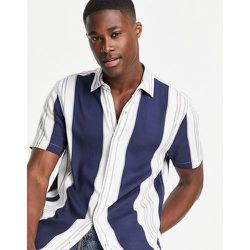 Chemise à rayures - Bleu marine et blanc - Topman - Modalova