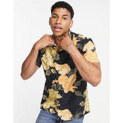 Chemise en coton à manches courtes et imprimé fleuri - Topman - Modalova