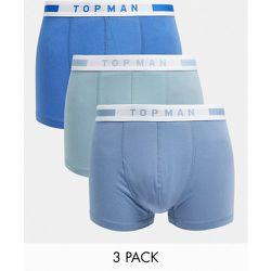 Lot de 3 boxers - Tons bleus - Topman - Modalova