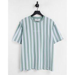 MCMX - T-shirt rayé - Vert et bleu - Topman - Modalova