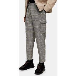 Pantalon cargo fuselé à carreaux - Gris - Topman - Modalova
