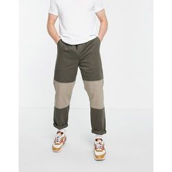 Pantalon coupe confortable effet coupé-cousu - Kaki - Topman - Modalova