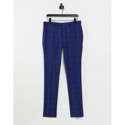 Pantalon de costume super skinny à carreaux - marine - Topman - Modalova