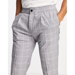 Pantalon fuselé à carreaux - Topman - Modalova