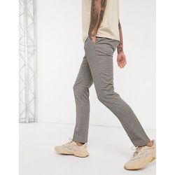 Pantalon habillé ajusté à petits carreaux pied-de-poule - Topman - Modalova