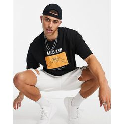 Sweat-shirt à manches courtes avec motif mains dessinées - Topman - Modalova