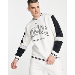 Sweat-shirt style universitaire à logo emblématique - Topman - Modalova