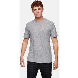 Topman - T-shirt côtelé - Gris - Topman - Modalova