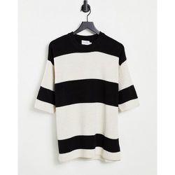 T-shirt en maille à rayures - et blanc - Topman - Modalova
