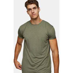 Topman - T-shirt long - Kaki-Vert - Topman - Modalova