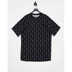 T-shirt loungewear à manches courtes et fines rayures - Topman - Modalova