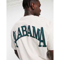 T-shirt oversize avec imprimé Alabama - Topman - Modalova