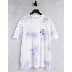T-shirt oversize tie-dye avec imprimé Zest devant et au dos - Topman - Modalova