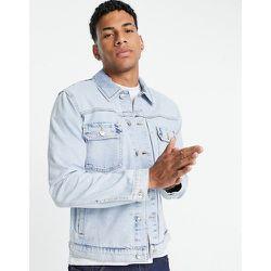 Veste en jean coupe classique - délavé blanchi - Topman - Modalova
