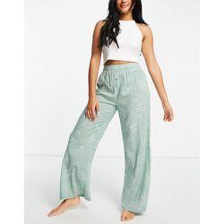 Pantalon de pyjama à imprimé fougères - sauge - Topshop - Modalova