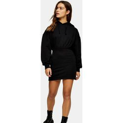Petite - Robe sweat-shirt courte à capuche - Topshop - Modalova