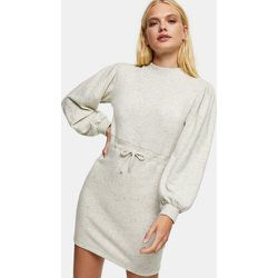 Robe courte style sweat-shirt - Grège - Topshop - Modalova