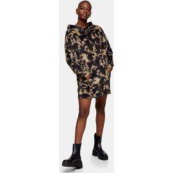 Robe sweat-shirt en velours effet tie dye - Topshop - Modalova