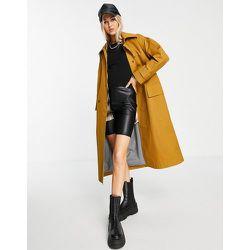 Trench-coat à doublure rayée - Tabac - Topshop - Modalova