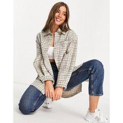 Veste chemise oversize à carreaux - et blanc - Topshop - Modalova