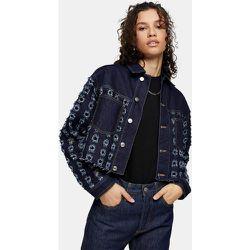 Veste courte en denim à découpes - Bleu indigo - Topshop - Modalova