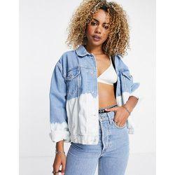 Veste d'ensemble en jean de coton recyclé mélangé délavé teint par sections - Topshop - Modalova