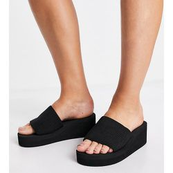 Wide Fit - Mules chunky habillées - Truffle Collection - Modalova