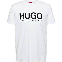 T-shirt Regular Fit en pur coton à logo imprimé - HUGO - Modalova