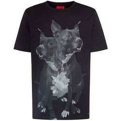 T-shirt Regular Fit en coton à imprimé chien - HUGO - Modalova