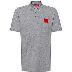 Polo Slim Fit en piqué de coton avec patch logo - HUGO - Modalova