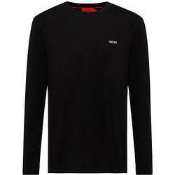 T-shirt à manches longues en coton avec logo brodé - HUGO - Modalova