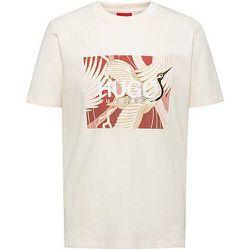 T-shirt en jersey de coton à imprimé grue japonaise - HUGO - Modalova