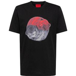 T-shirt en jersey de coton à motif animalier - HUGO - Modalova