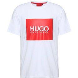 T-shirt en jersey de coton avec grand logo imprimé - HUGO - Modalova