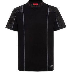 T-shirt Relaxed Fit en coton stretch avec empiècements à imprimé peau de serpent - HUGO - Modalova