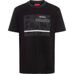 T-shirt en coton stretch mercerisé à logo artistique - HUGO - Modalova