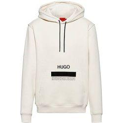 Sweat à capuche en coton biologique avec logo à message et fils recyclés - HUGO - Modalova