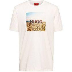 T-shirt en coton à imprimé plage et logo - HUGO - Modalova