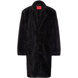 Manteau Regular Fit en peluche avec revers crantés - HUGO - Modalova