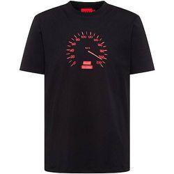 T-shirt à col rond en jersey de coton avec motif artistique compteur de vitesse - HUGO - Modalova