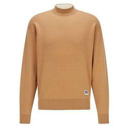 Pull à petit col montant en coton et laine avec à logo exclusif - BOSS X Russell Athletic - Modalova