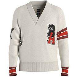 Pull à col V en laine vierge avec logo exclusif - BOSS X Russell Athletic - Modalova