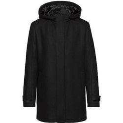Manteau à capuche Slim Fit en laine vierge mélangée - HUGO - Modalova