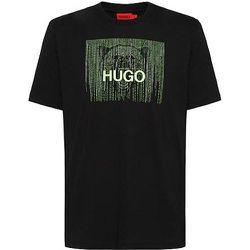 T-shirt en coton avec logo phosphorescent - HUGO - Modalova